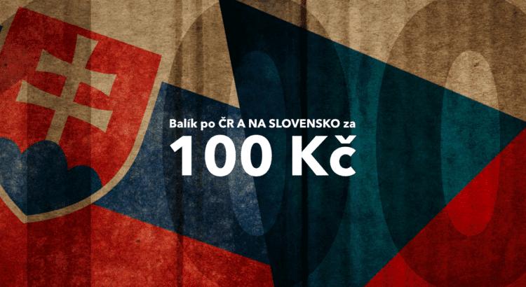 Akce 100 Kč za balík po ČR a na Slovensko